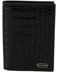 Dolce & Gabbana Bifold Passport Holder - Zwart