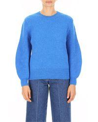Closed Neck Pullover - Blauw