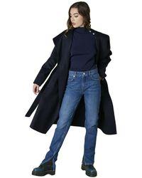 Silvian Heach Cappotto lungo con cintura - Negro
