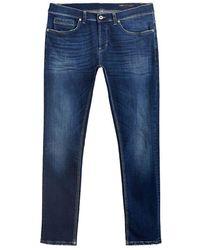 Dondup George Slim Fit Jeans Ed7 - Blauw