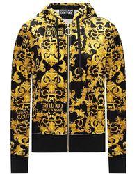 Versace Jeans Couture Baroque Motif Hoodie - Geel