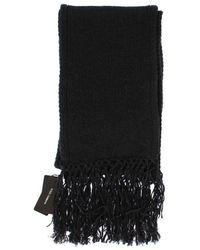 Dolce & Gabbana Knitted Cashmere Scarf - Zwart