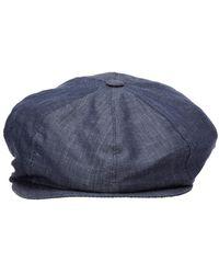 Emporio Armani Flat hat sboy cap gatsby Azul