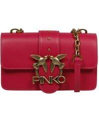 Pinko Houd Van De Mini Icon Eenvoudig Zak - Rood