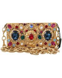 Dolce & Gabbana Clutch Micro Cross Body Box Bag - Geel