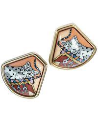 Hermès Pre-owned Enamel Earrings - Geel