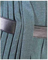 Hermès Robe en cachemire plissée - État d'occasion Excellent - Vert