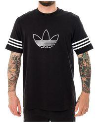 adidas T-shirt Overzicht Tee Fm3897 - Zwart