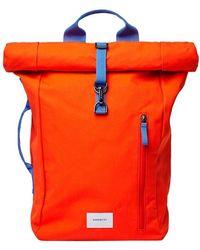 Sandqvist Laptop Backpack Dante Metal Hook 15 Inch - Rood