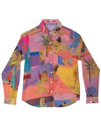 G.Kero Funky Love Cotton And Silk Shirt - Roze