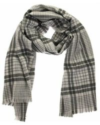 Brunello Cucinelli Prince of wales batavia scarf - Gris