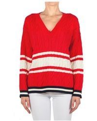 Jucca J3111009 V-neck - Rouge