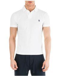 Ralph Lauren Men's Short Sleeve T-shirt Polo Collar - Wit