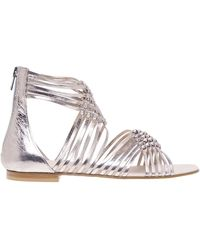 FRU.IT Sandal With Braided Bands - Grijs