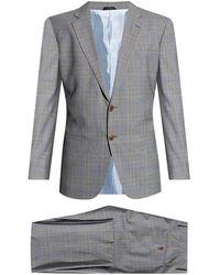 Giorgio Armani Checked Suit - Grijs