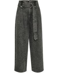 Gestuz Aleah HW culotte jeans - Grigio