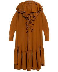 AMI Oversize dress - Marron