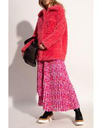 Stella McCartney Faux-fur coat Rojo