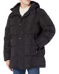DKNY Jacket Puffer Quilted Full-Zip Hooded - Nero