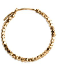 Jane Kønig Small Bead Creole, Gold-plated Sterling Silver - Geel