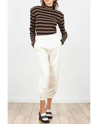 THE M.. Trousers - Blanc