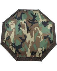 Moschino 8594-openclosea Umbrellas Camouflage - Groen