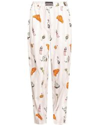 Vetements Pyjama Pants - Wit