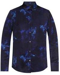 PS by Paul Smith Printed Shirt - Blauw