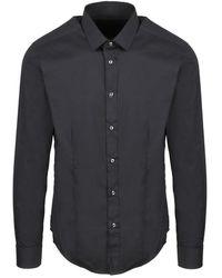 Brian Dales Slim Stretch Shirt - Schwarz