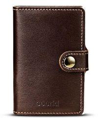 Secrid Kaarthouder Mini-portemonnee 4-6 Kaart - Bruin