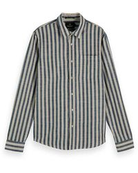 Scotch & Soda Classic Striped Shirt - Blauw