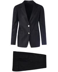 Tagliatore Single Breasted 2 Buttons Suit - Zwart