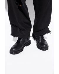 Vetements Boots with logo - Noir