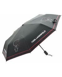 Karl Lagerfeld K/ikonik Outline Umbrella Negro