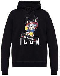 DSquared² Logo-printed hoodie - Blu