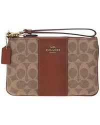 COACH Clutch With Logo - Bruin