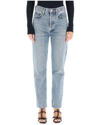 Agolde Jeans 90 S Pinch Waist - Blauw