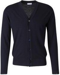 Santa Eulalia Buttoned Wool Cardigan - Blauw
