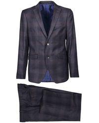 Etro Semi-traditional Regular Dress - Blauw