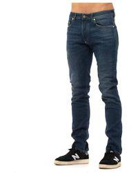 Blauer Jeans - Bleu