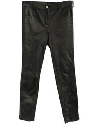 Givenchy Vintage Leather Pants -Pre Owned Condition Excellent - Noir