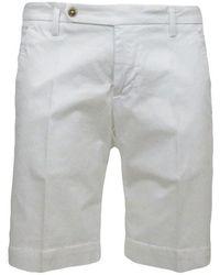 Entre Amis Chino Bermuda Shorts - Wit