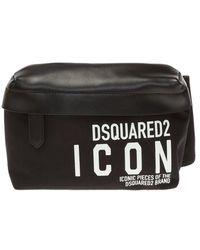 DSquared² Branded belt bag - Nero