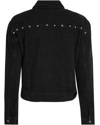 Aaiko Bryenne Jeans Jacket Studs - Zwart