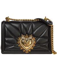 Dolce & Gabbana Women's Leather Cross-body Messenger Shoulder Bag Devotion - Zwart