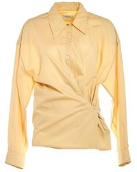 Lemaire Twisted Shirt - Geel