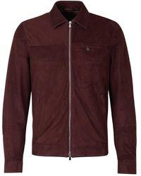 Santa Eulalia Suede Leather Jacket - Rot