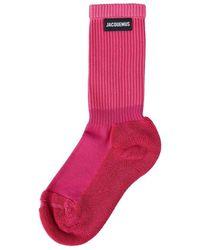 Jacquemus Les Chaussettes Socks - Rosa