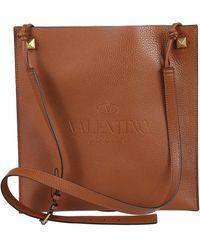 Valentino Garavani Flat Cross Body Bag - Bruin