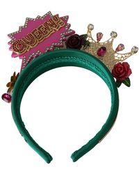 Dolce & Gabbana Diadem Headband - Groen